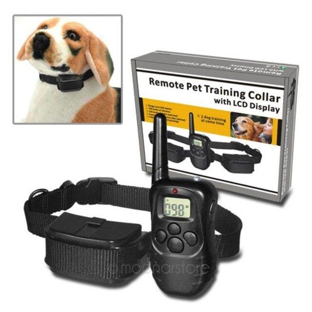 coleira de treino para animais de estimação remoto com display lcd