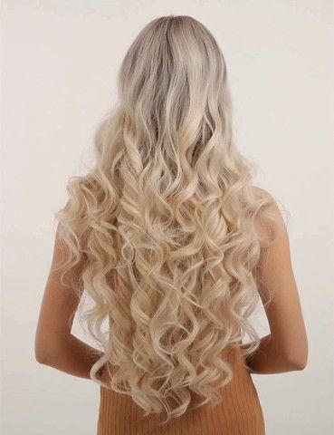 Lace/peruca sintética loira NOVA - Foto 2