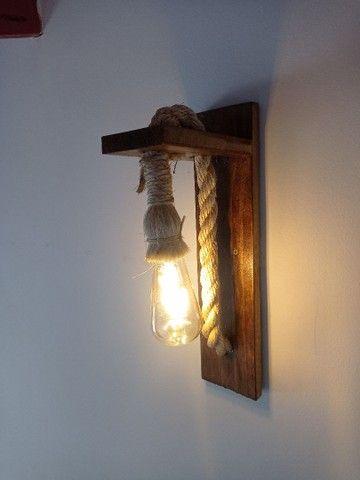 Luminária rústica arandela de Sisal - Foto 2