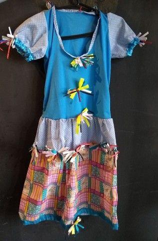 Vestidos de caipira, festa junina. Adulto e infantil  - Foto 3