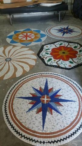Piso, mandala, mosaico, peixe, flor de lis - Foto 2