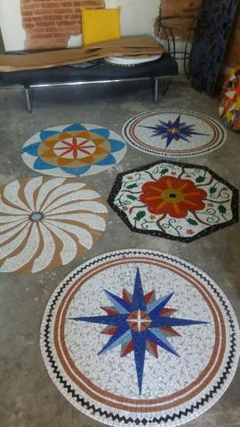 Cavalo marinho, flor de lis, tartaruga, estrela, mandala, mosaico artistico - Foto 4