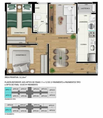 Apartamento 2 qts 50m2 * com desconto na entrada - Foto 10