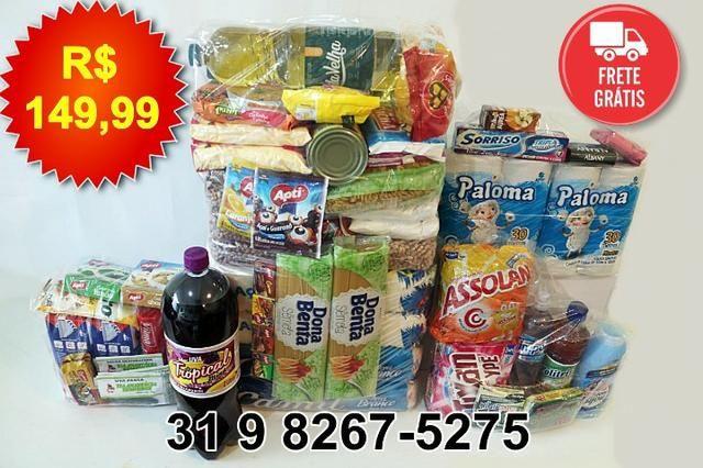 bb77211c4c Cesta Básica 60 itens com tempero e 1 refrigerante 2L Frete Grátis BH &  Região