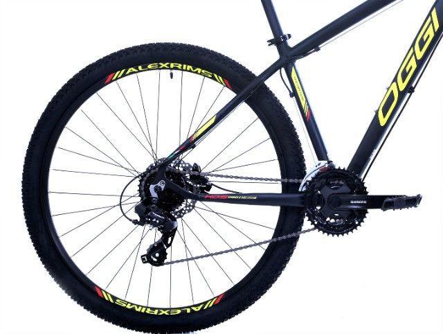 10x sem juros - Bicicleta oggi hacker hds / Quadro 17 / Freio Hidráulico / 24 Marchas - Foto 3