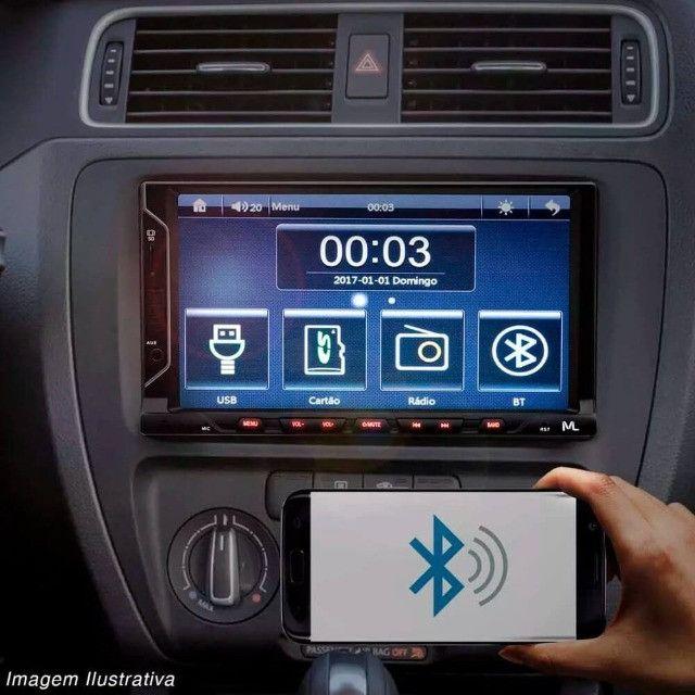 Central Multimídia Multilaser Evolve Fit Mp5 Bluetooth Usb - Foto 4