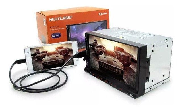 Central Multimídia Multilaser Evolve Fit Mp5 Bluetooth Usb