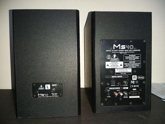 (Par) Monitores de Estúdio Behringer Ms40 - Caixa de som - Foto 3