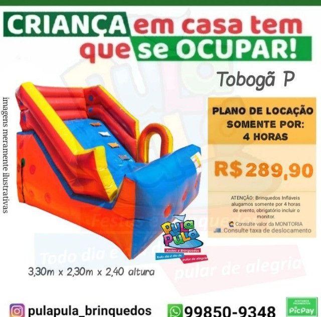 Promoção Aluguel - Tobogã Gigante + Pula Pula 3,66m - Foto 4