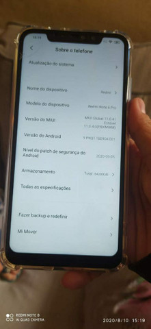 Xiaomi redmi note 6 pro vendo ou troco - Foto 4