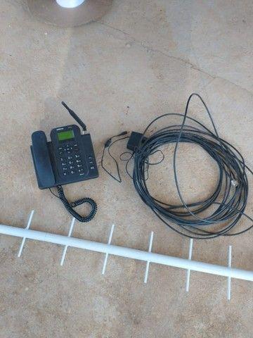 Telefone celular fixo Intelbrás 4G Wi-Fi mais antena externa - Foto 4
