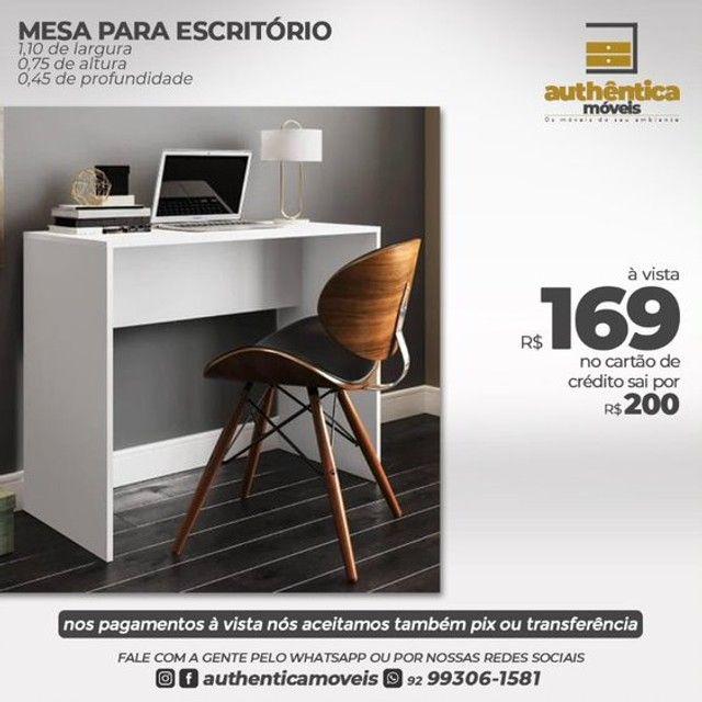 mesa de escritório ou estudo 100% mdf  - Foto 2