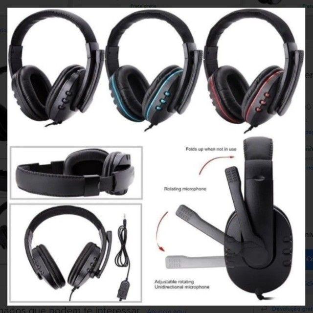 Fone Gamer Headphone Para Celular Ps3 Ps4 Pc Notebook Smartphones - Foto 2
