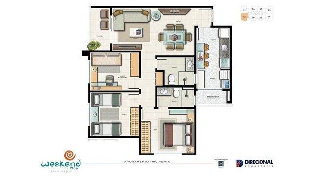 Vendo Urgente! Apartamento Weekend Club Ponta Negra, 3 quartos (1suíte), com tudo dentro! - Foto 9