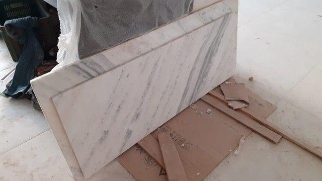 Pedra mármore 1,52x0,62 e 1,40x0,52