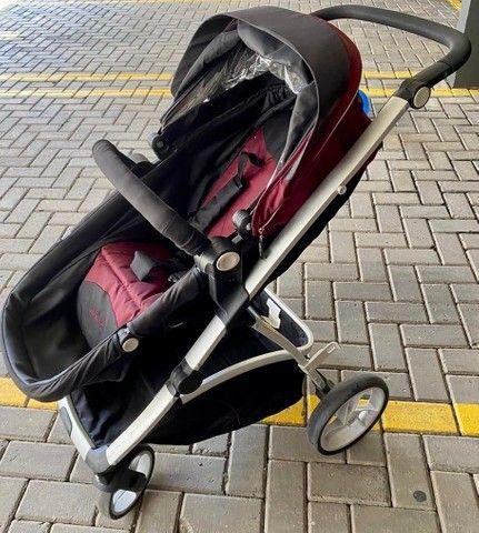 Carrinho de Bebê Dzieco Maly com bebê conforto e suporte para carro - Foto 3