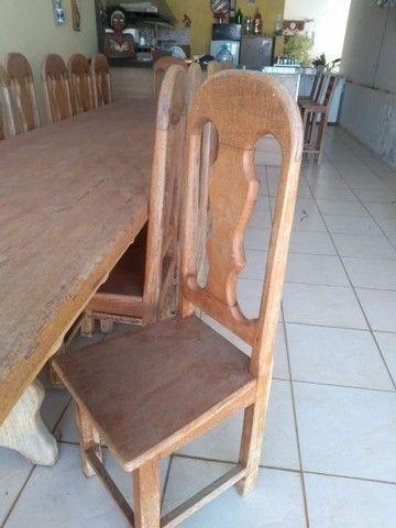 Mesa de 4x1m com 15 cadeiras  - Foto 4