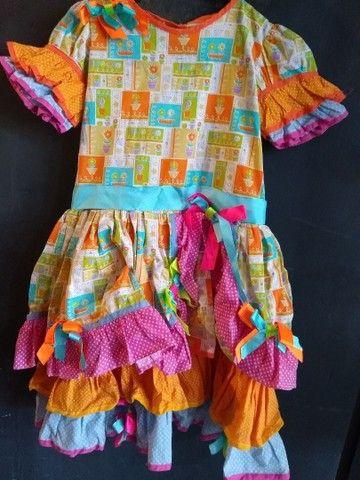 Vestidos de caipira, festa junina. Adulto e infantil