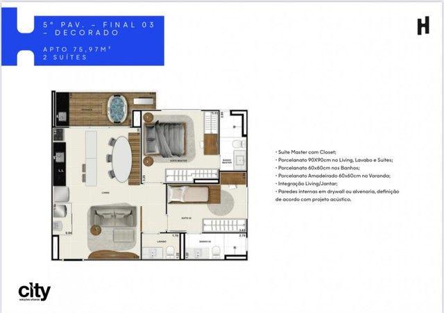 Compacto de luxo, 2 quartos com Varanda Gourmet, Ofurô e Churrasqueira.