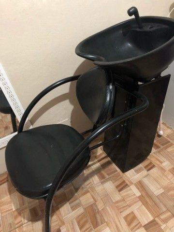 - Cadeira e lavatório para salão de beleza -