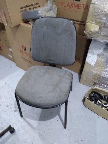 Cadeira Diretor Cinza fixa
