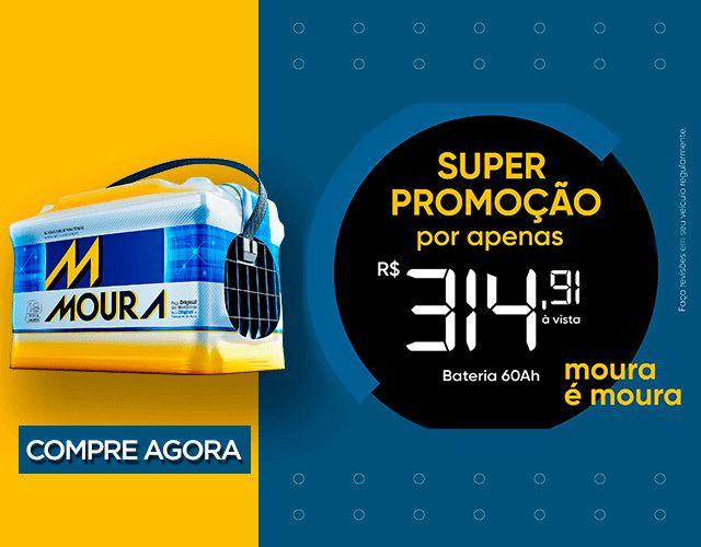 Baterias Moura 60AH saindo por apenas R$315,00, promoçao somente hj!!