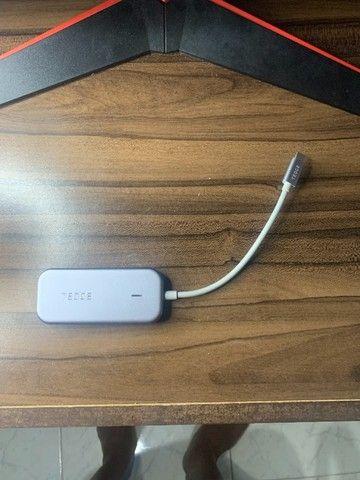 Hub Adaptador Usb-c, Usb, Hdmi, Cartão Sd, Micro Sd Tedge - Foto 2