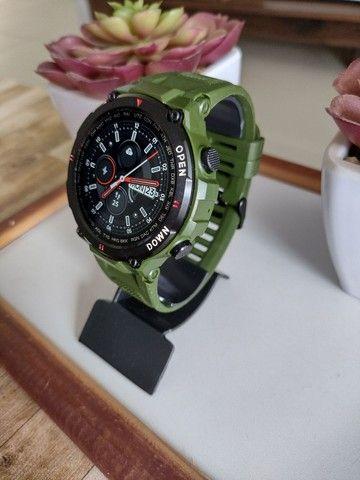 Relógio smartwatch Lemfo K22 recebe e faz chamadas novo - Foto 6