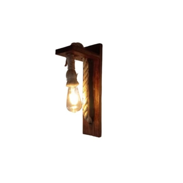 Luminária rústica arandela de Sisal