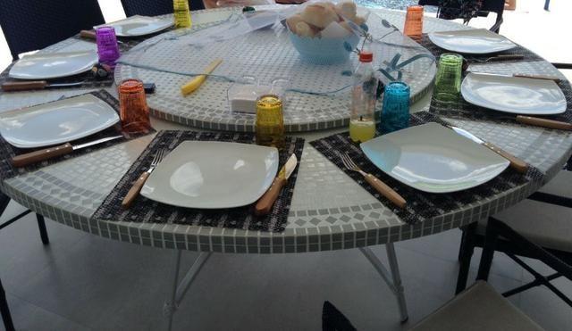 Tampo de mesa mosaico varios modelos sob medida - Foto 3