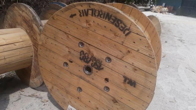 Bobina e Tampo de bobina para mesa rústica - Foto 4