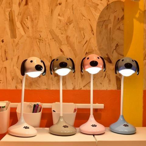 Luminária De Mesa Recarregável Em Formato de Cachorro Touch Led - Foto 6