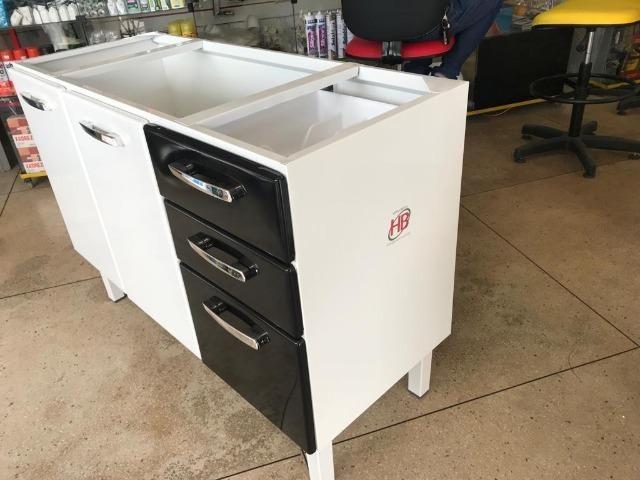 Gabinete HB 1,20 Para Pia de Cozinha Totalmente Organizada e Moderna - Foto 3