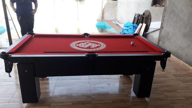 Mesa de Bilhar Preta TX Tecido Vermelho Personalizada Internacional Modelo IBPK191854 - Foto 3