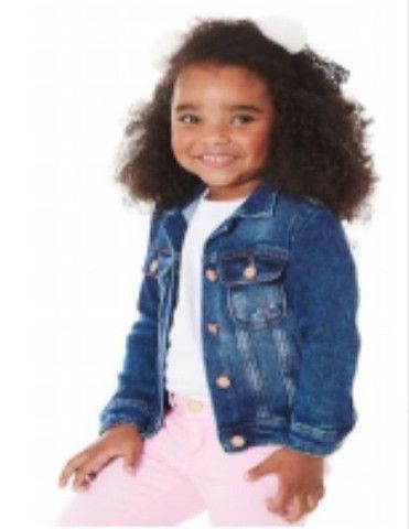 Jaqueta jeans Infantil Menina