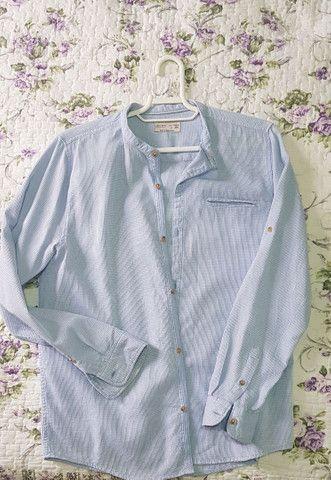 Camisa Manga Longa Infantil conservada - TAM 14 - Foto 2