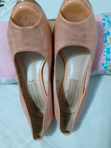 Sapato social cor salmão semi-novo1a - Foto 2
