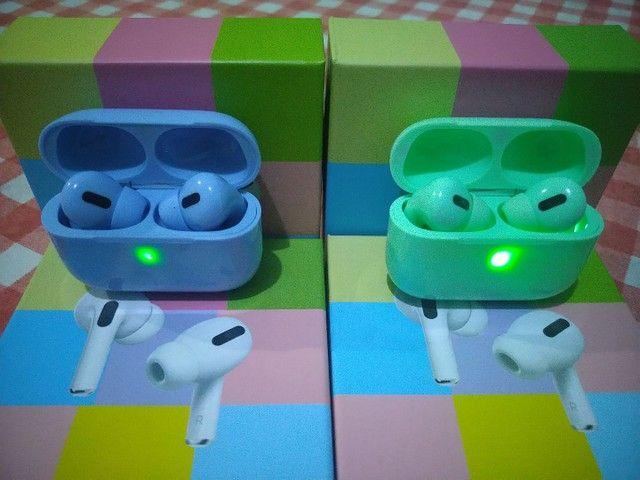 Fone de ouvido bluetooth modelo airpods pro colors