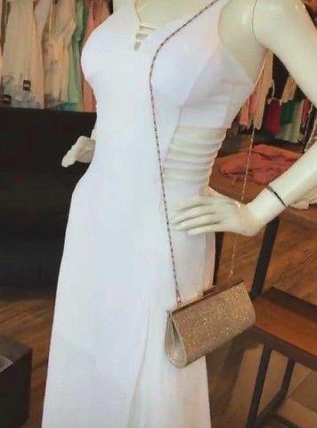 Vestido branco longo - Foto 6