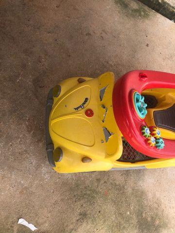 Carrinho De Passeio Ou Pedal 1300 Fouks - Calesita Amarelo *48 - Foto 3