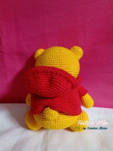 Urso Pooh De Amigurumi - Foto 3