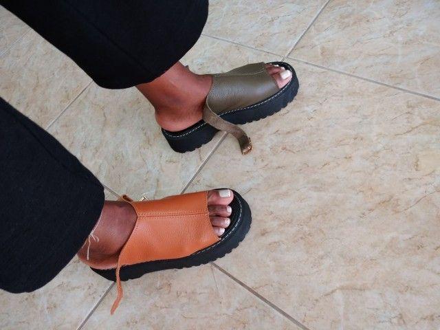 Sandálias de couro - Foto 5