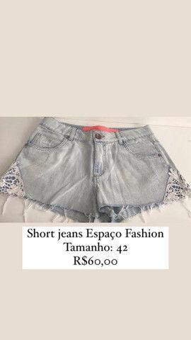 Short jeans Espaço Fashion