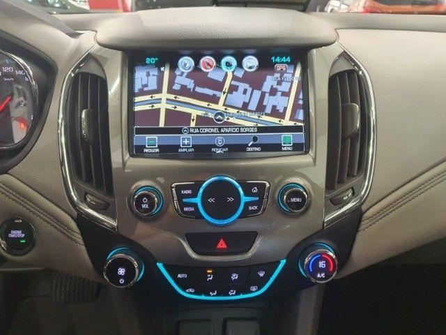 gm/cruze sedan ltz 1.4 turbo,ano 2018,u.dono,top de linha,branco,impecavel, sem detalhes - Foto 11