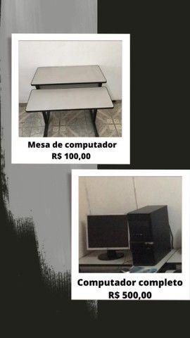 Móveis de escritório e computador usados