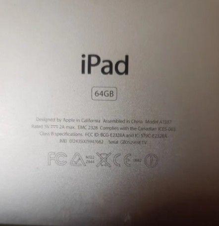 Apple iPad 1 64gb Modelo A 1337 - Mc497e/a Wi-fi 3g (avariado) - Foto 4