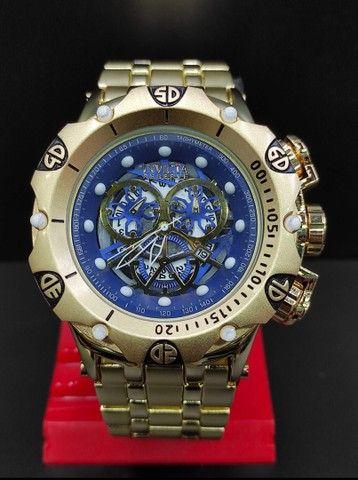 Relógio Masculino Invicta Dourado Grande 100% Prova d?água  - Foto 2