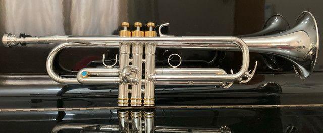 Trompete Yamaha Japan Prata  - Foto 4