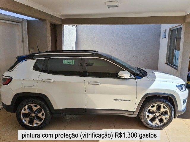 Jeep Compass 2018 Limited Branco Polar (perolizado) revisões na concessionária - Foto 6