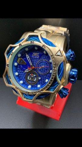 Invicta Venom Relógio Masculino Dourado Grande